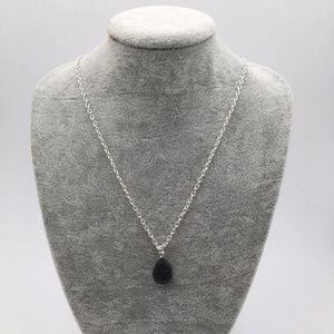 Jewelry - Natural Lava Stone Rock Diffuser Teardrop Necklace